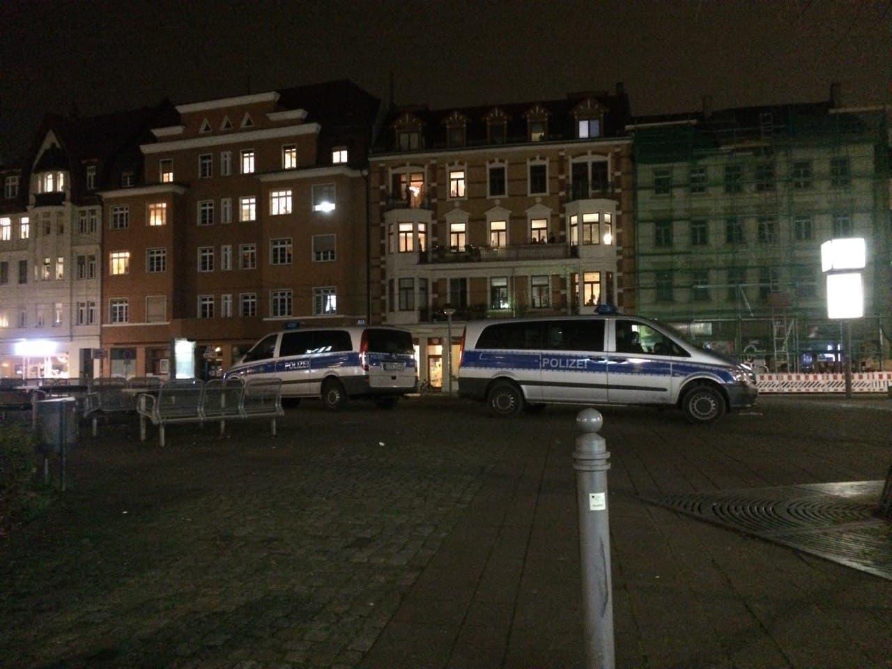 Lindenauer Markt kurz vor 22 Uhr - gähnende Leere. Foto: L-IZ.de