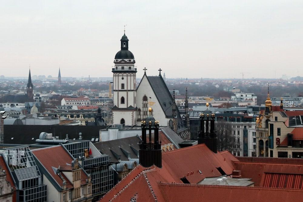 Panorama Leipzig: Thomaskirche. Foto: LZ