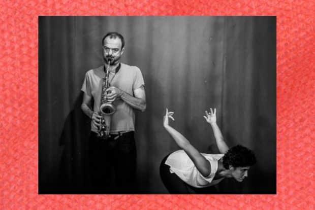 Musik & Tanz mit Lotus Edde-Khouri & Jean-Luc Guionnet (Paris). Foto: LeipziXP