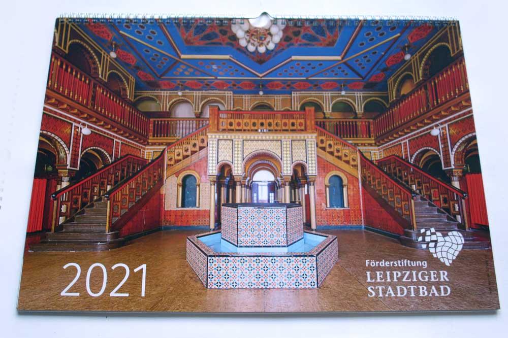 Kalender Leipziger Stadtbad 2021. Foto: Ralf Julke