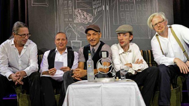Frank Berger, Armin Zarbock, Raschid D.Sidgi, August Geyler, Claudius Bruns. Foto: Armin Zarbock