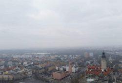 Leipzig aus Charta-Höhe betrachtet. Foto: Marko Hofmann