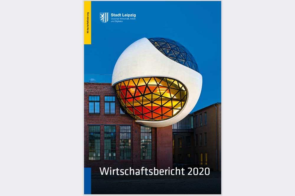 Der Wirtschaftsbericht 2020 der Stadt Leipzig. Cover: Stadt Leipzig