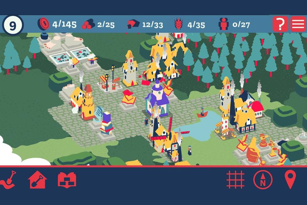 """In """"CitApp: Das Jura-Zitierspiel"""" wird eine virtuelle Stadt aufgebaut. Foto: MLU / Screenshot"""