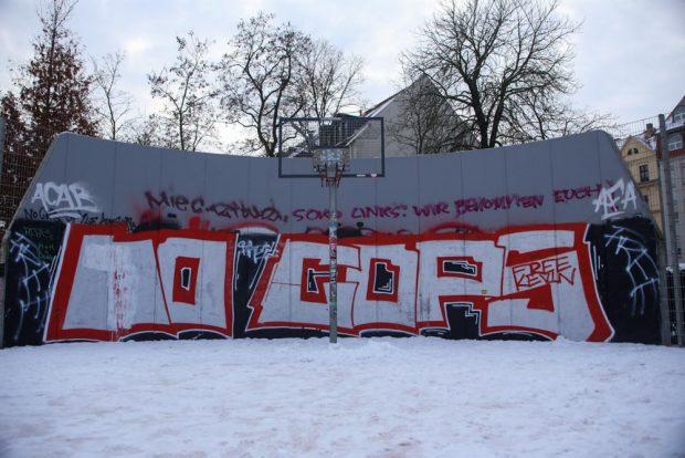 Streetballplatz am Connewitzer Kreuz. Foto: Martin Schöler