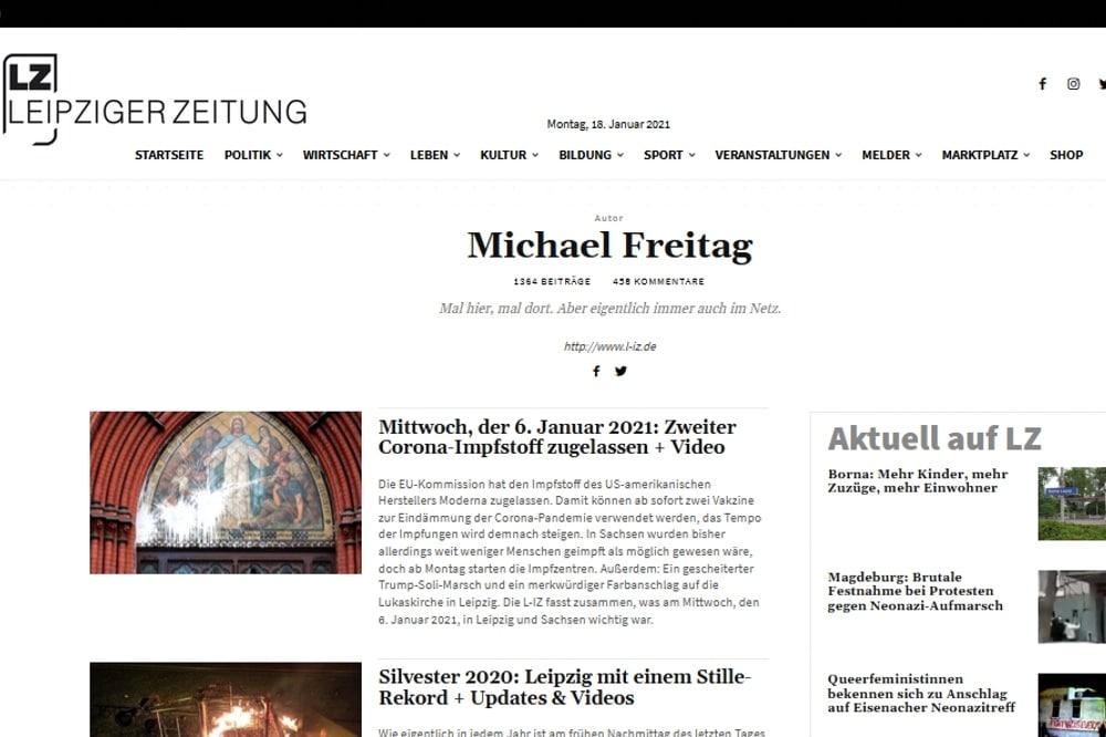 Die neuen Autorinnenseiten auf L-IZ.de. Screen: LZ