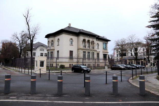 Das Generalkonsulat der USA in Leipzig. Auch am heutigen 6. Januar 2021 ein eher ruhiger Ort. Foto: L-IZ.de