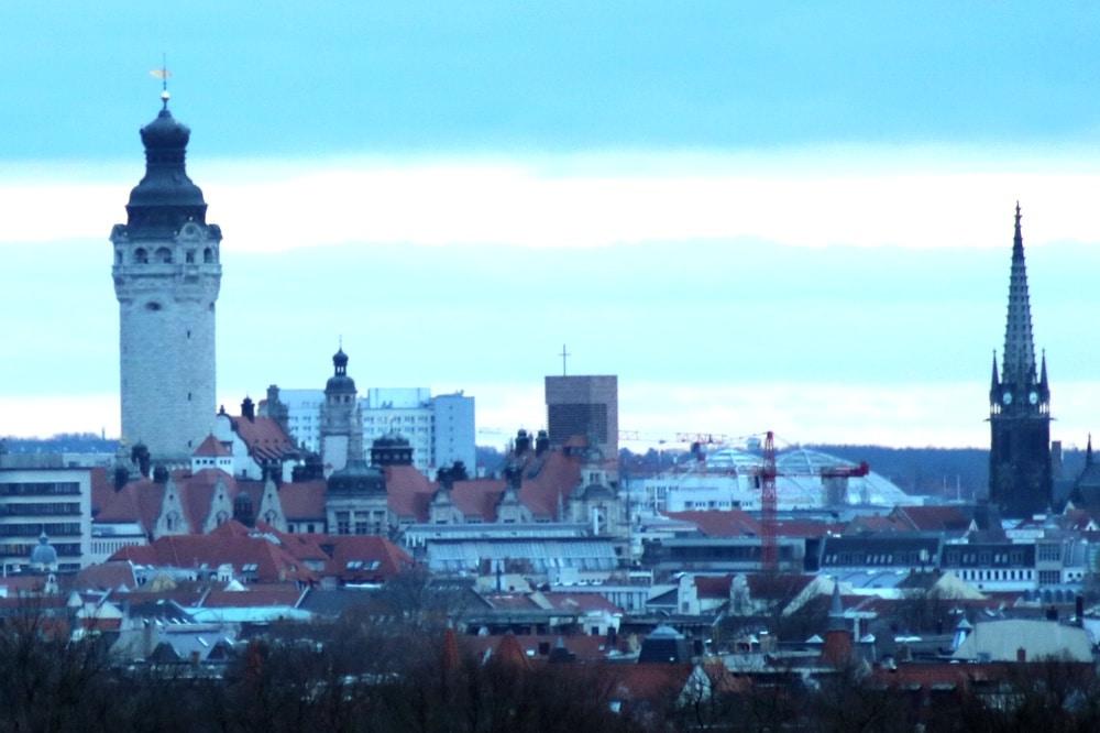 Die Leipziger Innenstadt mit Blick aus dem Norden der Stadt. Foto: LZ