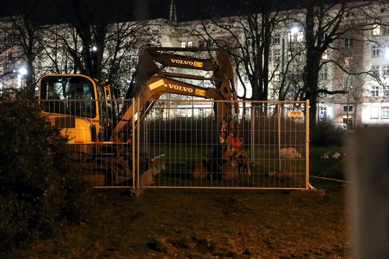 Am Wilhelm-Leuschner/Höhe Rossplatz in der Nacht zum 21. Januar 2021. Foto: LZ