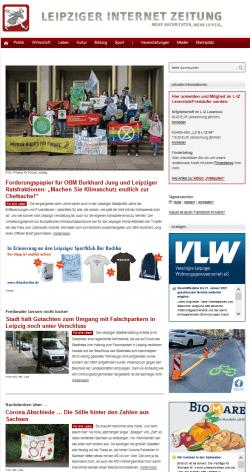 Hat bis zu einer Million Besucher (Visits) pro Monat tapfer überstanden: die alte L-IZ.de. Screen L-IZ.de