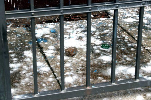 Die Rester einer angeblich politischen Tat. Foto: L-IZ.de