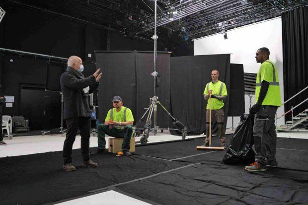 Yadegar Asisi gibt Regieanweisungen für NEW YORK 9/11. Foto: Asisi