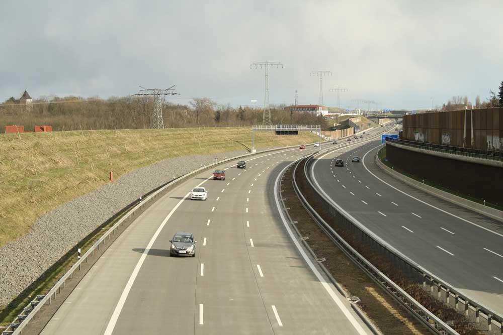 Die Autobahn A 14 im Leipziger Norden. Foto: Ralf Julke