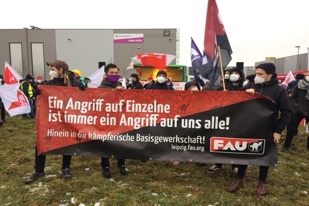 Demonstration Durstexpress 28. Januar 2021. Foto: Sabine Eicker