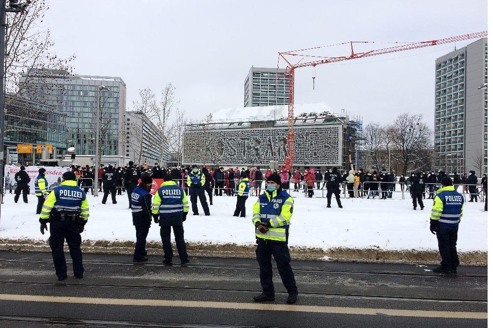 Der Protest von Dresden Nazifrei am 13. Februar 2020. Foto: LZ