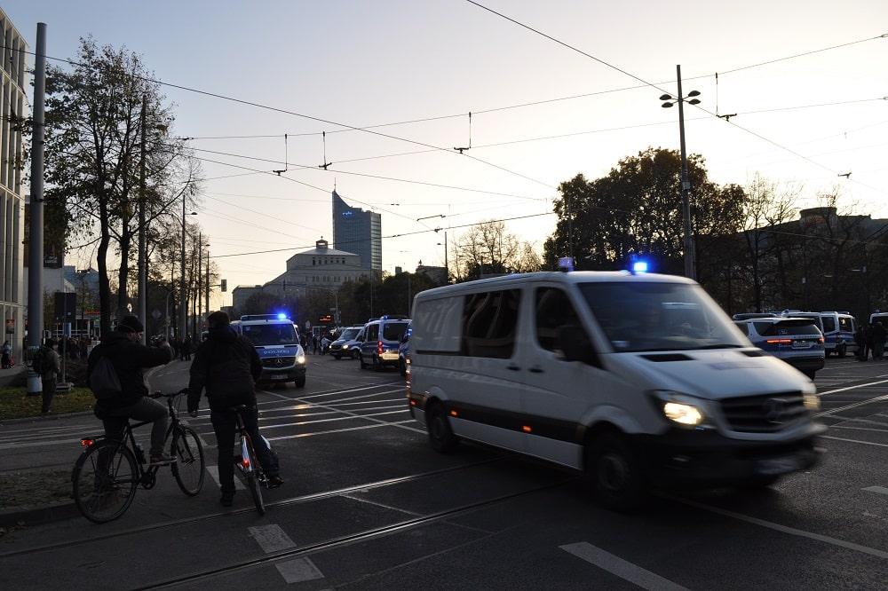 Razzia bei der Polizei Leipzig. Foto: Antonia Weber