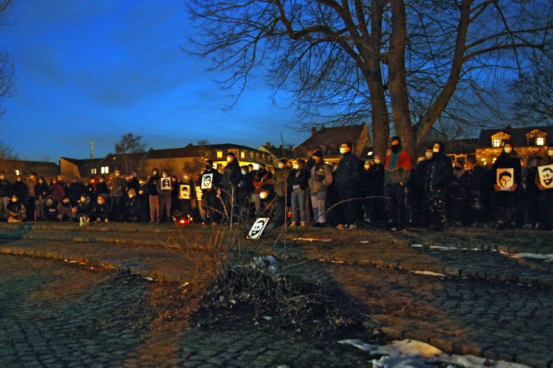 Gedenkveranstaltung für den rassistischen Anschlag in Hanau. Foto; LZ
