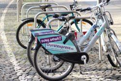 Ding Dong - Durstexpress-Werbung in Leipzig. Foto: Michael Freitag