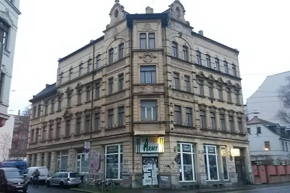Lützner Straße 35. Laden im EG sonst unbewohnt. Foto: Privat