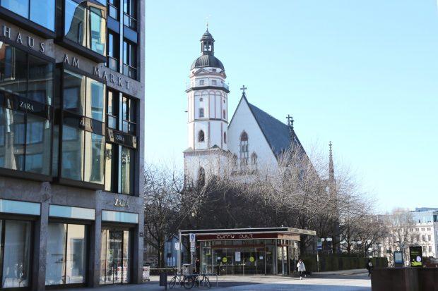 Die Thomaskirche am Leipziger Marktplatz. Foto: Michael Freitag
