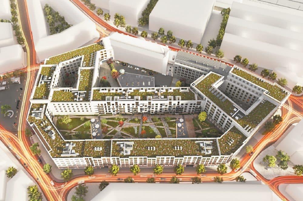 Visualisierung Krystallpalast-Quartier, Quartiersüberblick © QUARTERBACK Immobilien AG