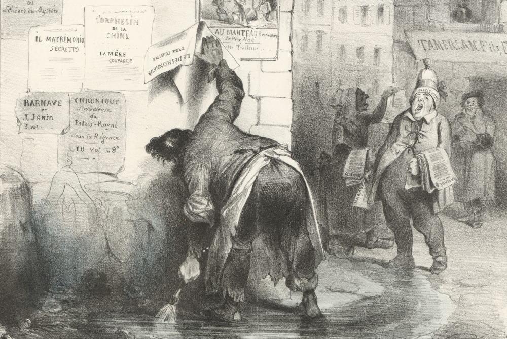 L`Afficheur. Illustration aus La Carricature No. 223, S. 256. Foto: DNB