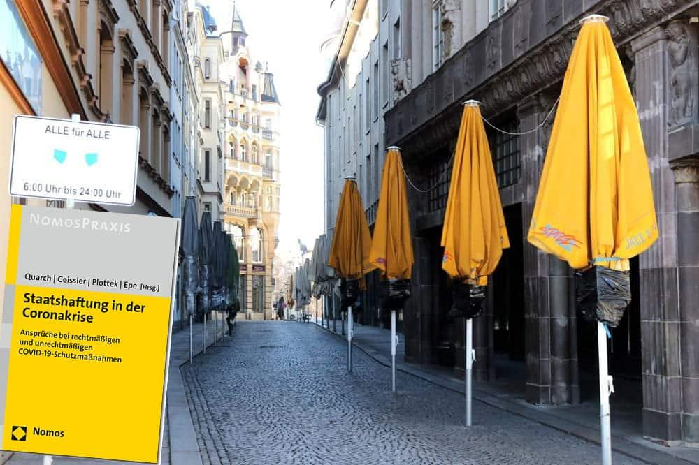 Totentanz in der Tourimeile in Leipzigs Barfußgässchen. Foto: Michael Freitag