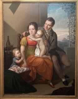 Gemälde, Maximilian Speck von Sternburg mit seiner Familie, gemalt 1816 von Friedrich Matthäi. Foto: Stadtgeschichtliches Museum Leipzig