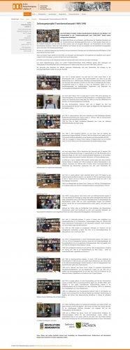 Die Protagonisten des Zeitzzeugen-Projekts auf der Website des Archivs Bürgerberwegung. Foto: Archiv Bürgerbewegung Leipzig