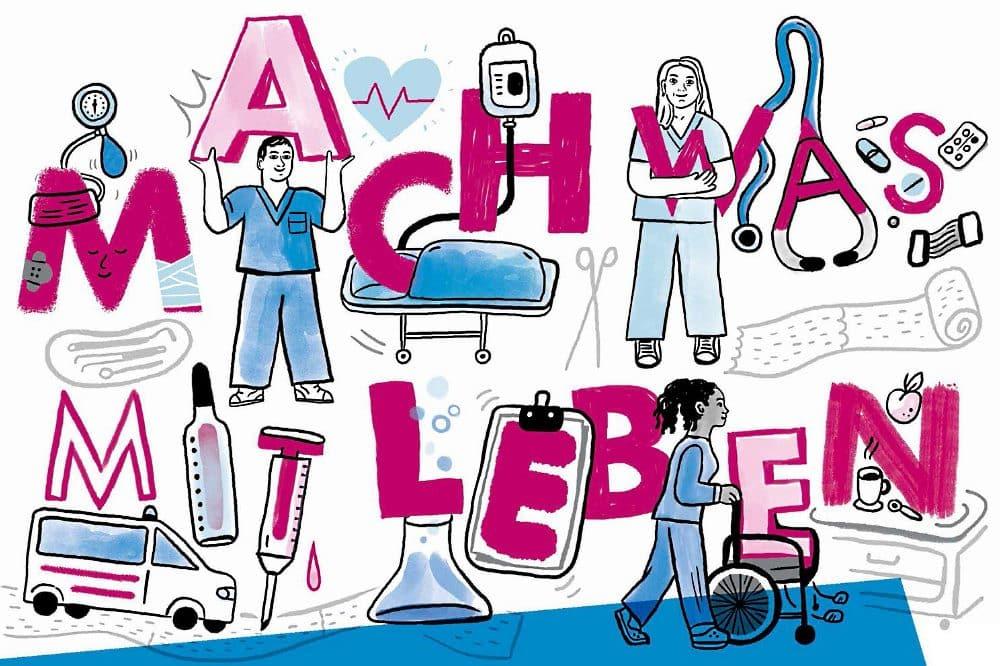 Beim digitalen JobPoint.AZUBI am 20. März stellt die UKL-Berufsfachschule ihre vielfältigen Ausbildungsmöglichkeiten vor. Quelle: UKL