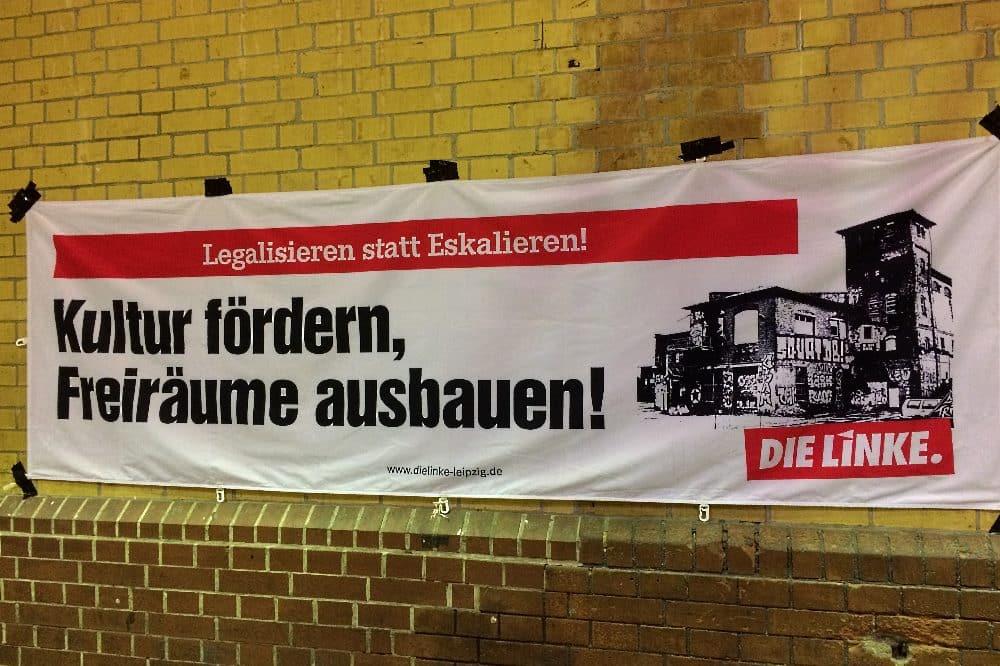 Die Linke im Wahlkampf. Foto: LZ
