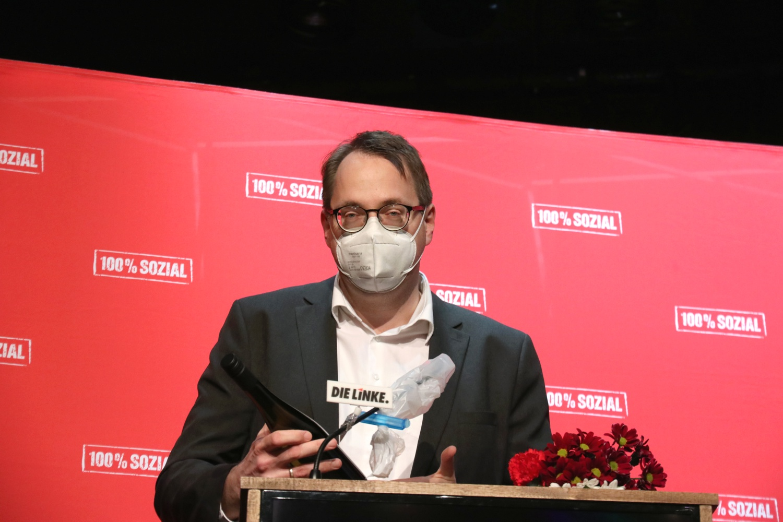 Sören Pellmann (MdB) nach der Wahl. Foto: LZ