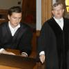 Gerieten im Auwald-Prozess mehrfach mit ungewöhnlicher Härte aneinander: Strafverteidiger Georg K. Rebentrost (li.) und der Vorsitzende des Schwurgerichts Hans Jagenlauf. Fotos (2): Lucas Böhme
