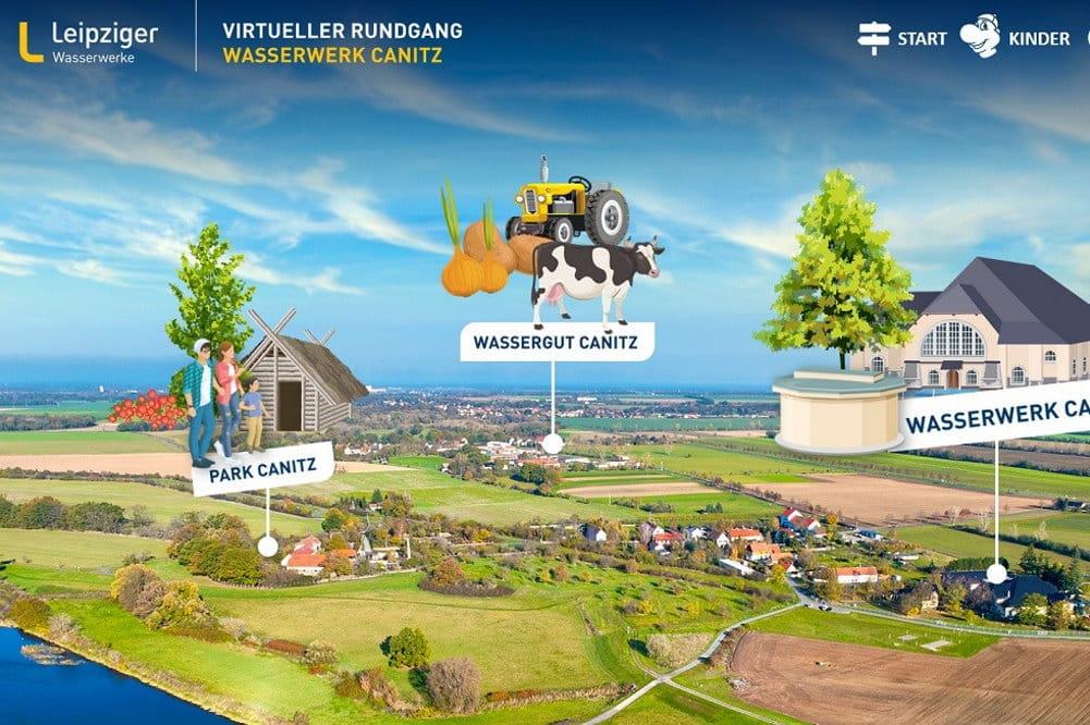 Der virtuelle Wasserwerks-Rundgang der Leipziger Wasserwerke ist unter www.L.de/wasserwerk-virtuell erreichbar. Foto: Leipziger Gruppe