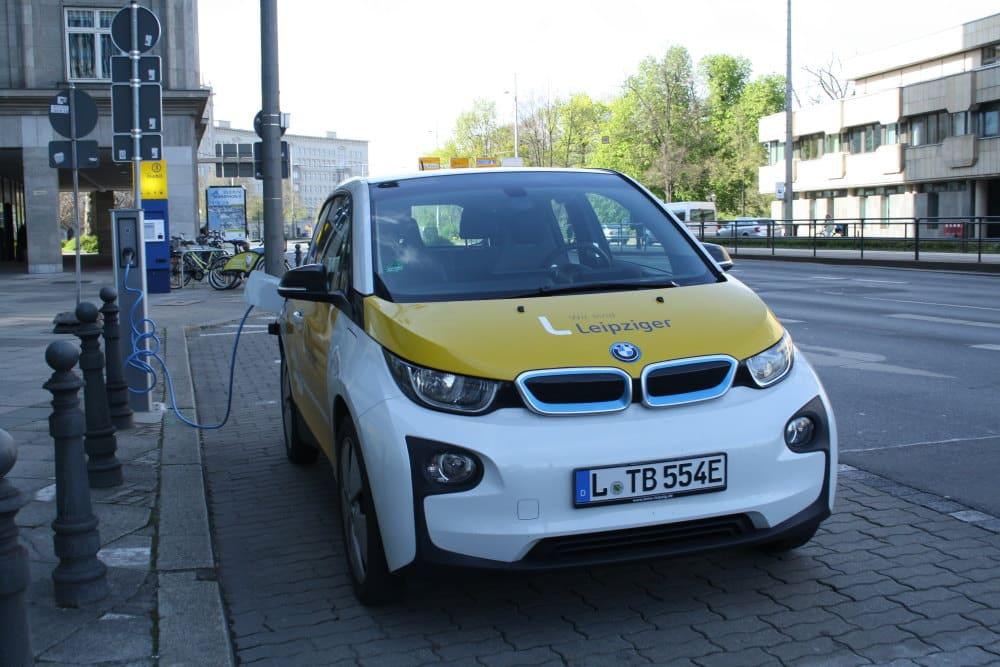 Elektroauto der Leipziger Gruppe. Foto: Ralf Julke