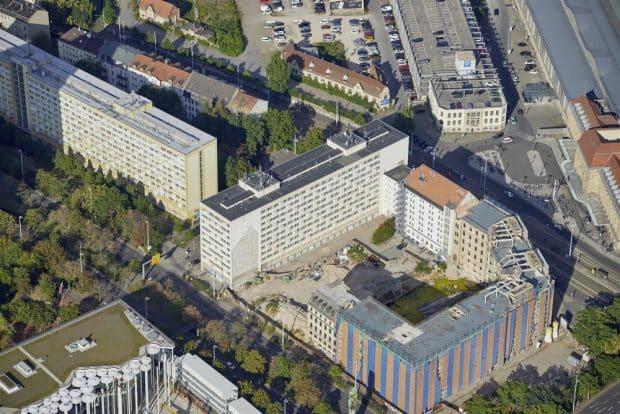 Das Wohnensemble an der Gerberstraße wird saniert. Foto: Bertram Kober/Punctum / LWB