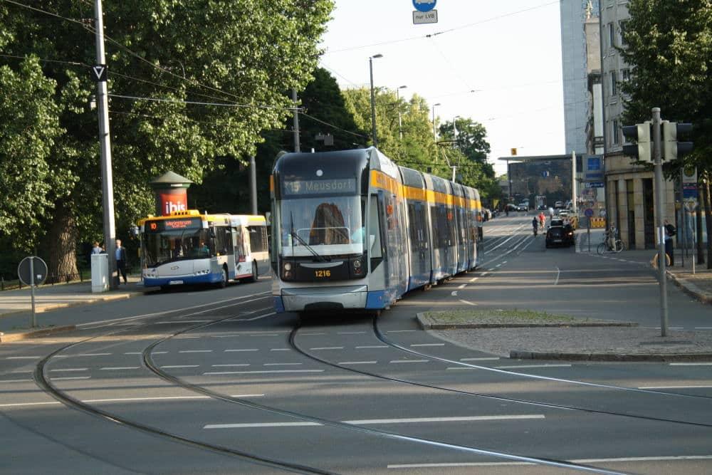 Die Gleiskurve in die Goethestraße wird 2021 saniert. Foto: Ralf Julke