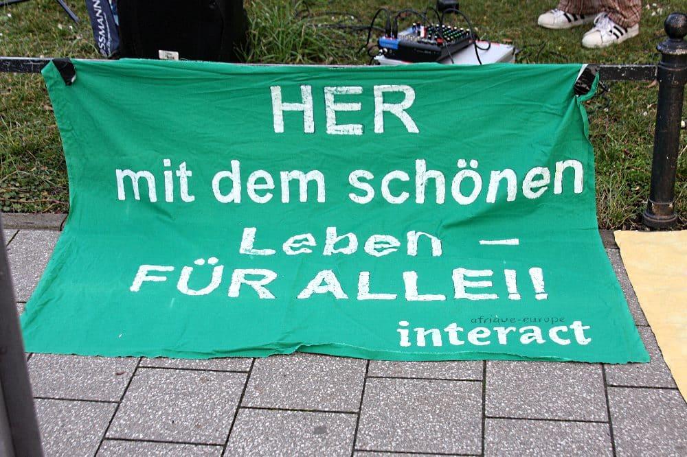Demo Asyl- und Grenzpolitik, Abschiebungen, 03.03.2021. Foto: LZ