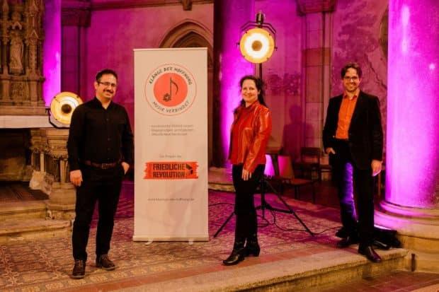 Die Projektleitung (v.l.n.r. ): Ali Pirabi, Maria Bien, Tilmann Löser. Foto: Anne Hornemann