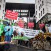 Protestaktion vorm Sächsischen Landwirtschaftsministerium. Foto: Ruben Neugebauer / Campact