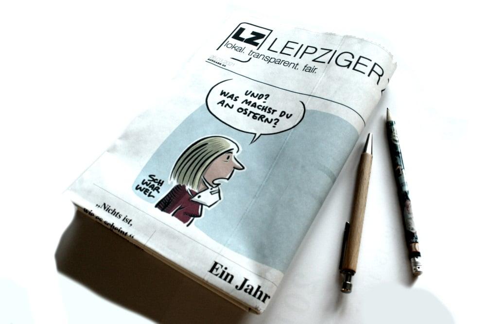 Leipziger Zeitung Nr. 89: Ein Jahr Pandemie. Foto: Ralf Julke