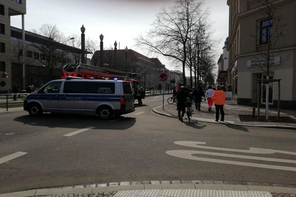 Brand auf der Karl-Liebknecht-Straße. Foto: LZ