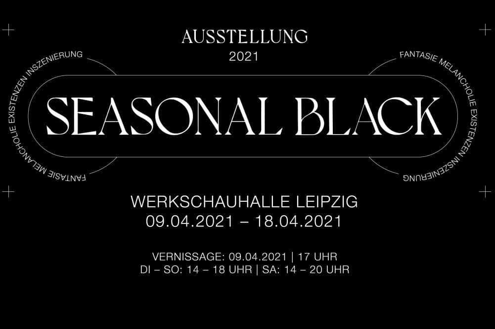 Seasonal Black. Austellungsplakat: Mehrzahl