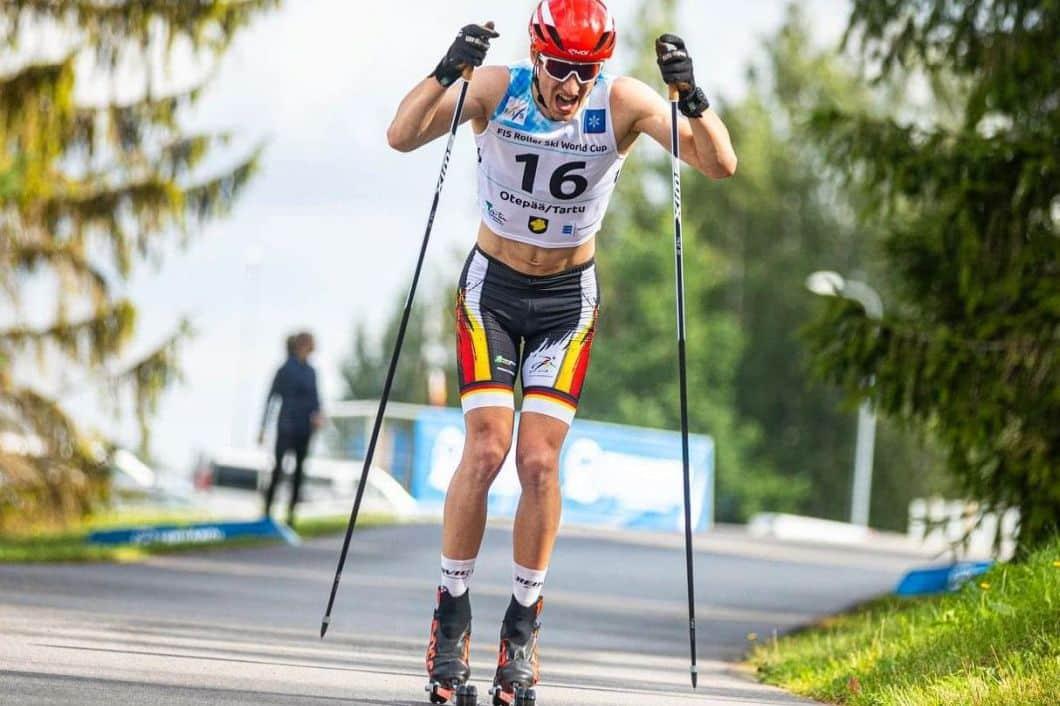 Moritz Kirschner beim Rollski-Weltcup in Aktion. Foto: Paul Poderat