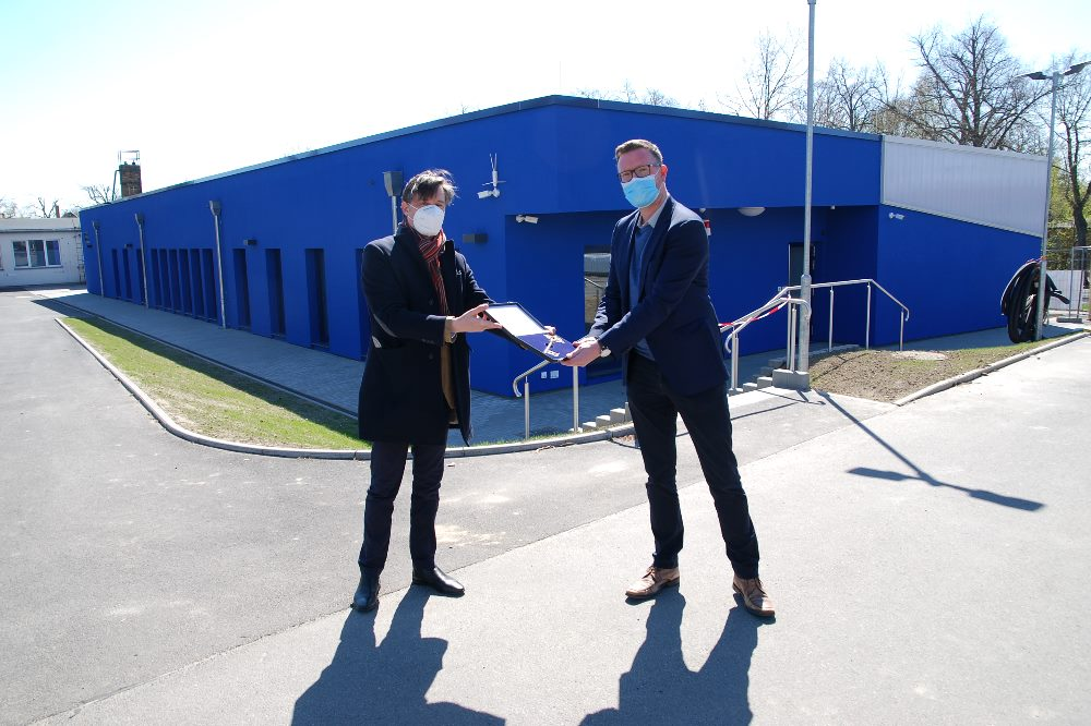Sportbürgermeister Heiko Rosenthal (l.) und Sascha Orban (Vorsitzender SG MoGoNo). Quelle: Stadt Leipzig