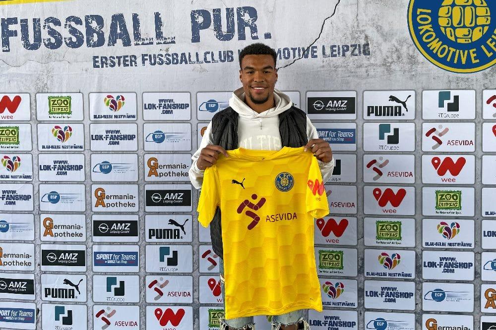 Eric Voufack. Foto: 1. FC Lokomotive Leipzig