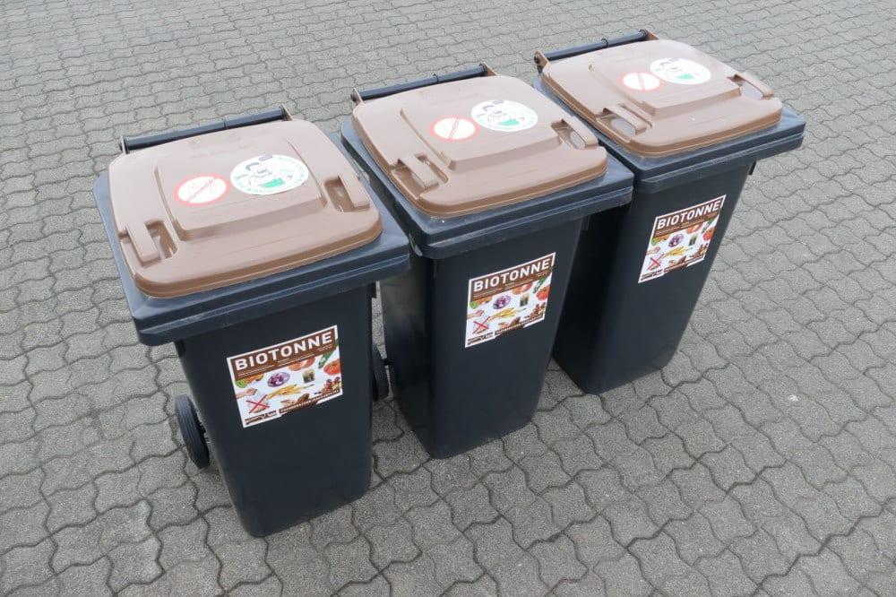 Biotonen für den geplanten Austausch. Foto: Stadtreinigung Leipzig