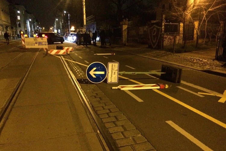 Unübersichtliche Lage nach 21 Uhr in Connewitz. Foto: LZ