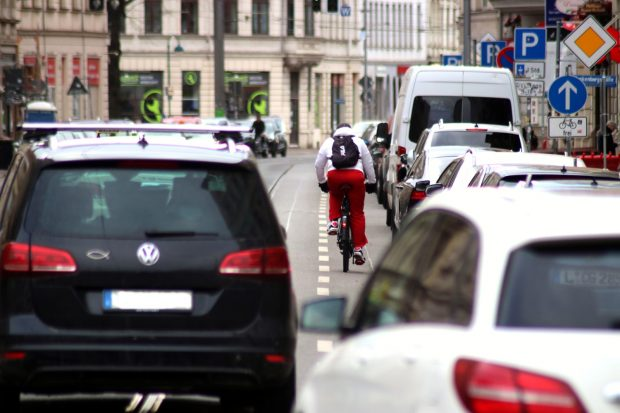 Ein realistisches Bild vom Berufsverkehr in Leipzig. Foto: Michael Freitag