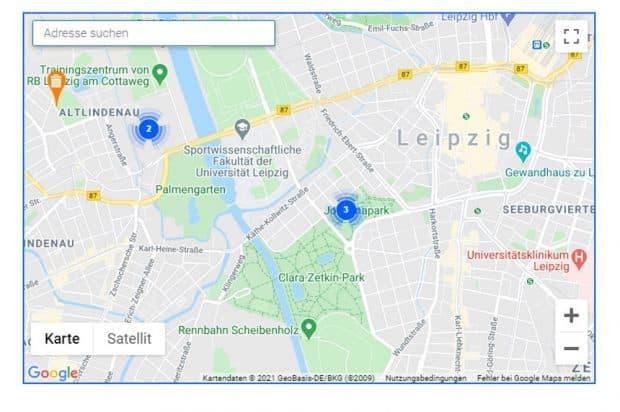 Der Mängelmelder auf der Website der Stadt Leipzig. Screenshot: LZ